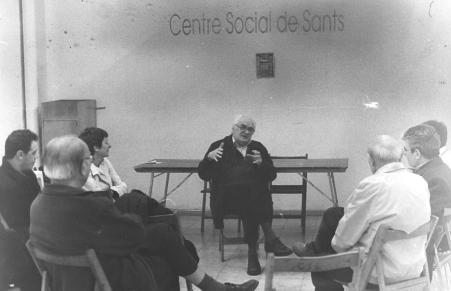 """Presentación de """"La Corriente"""" en Sants, 2003"""