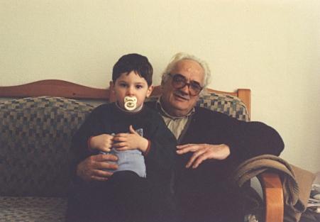Con su nieto Pablo