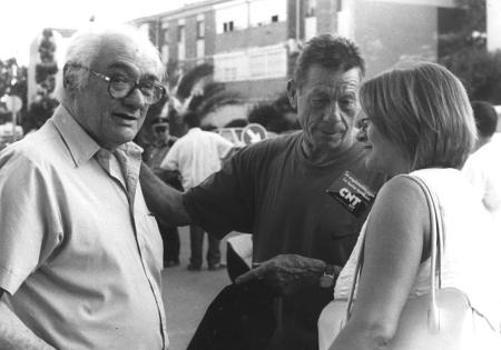 Con Lirio Gerona y la alcadesa de Sant Boi de Llobregat