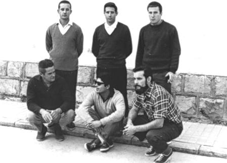 Con compañeros en la cárcel de Soria