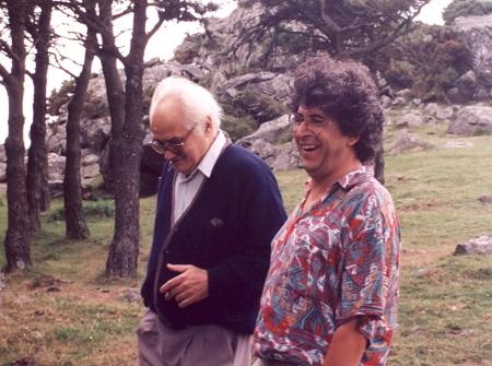Con Pep Castells, verano de 1994