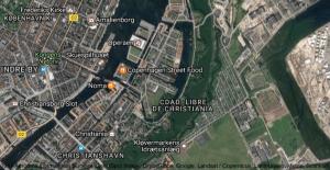 Vista satelital de la Ciudad Libre de Christiania.