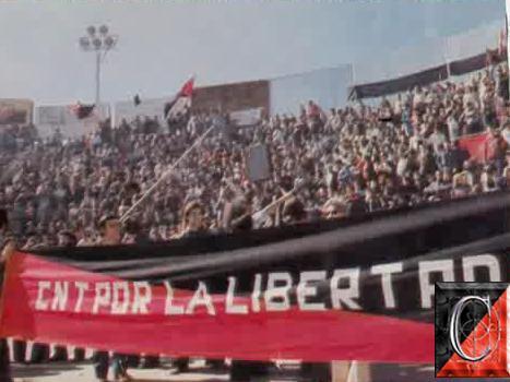 El 27 de Marzo de 1977 la CNT dio un mitin multitudinario en San Sebastián de los Reyes.