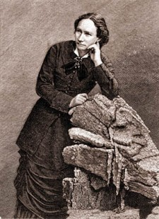 Portrait de Louise Michel (1830 - 1905) lors de sa dŽportation ˆ NoumŽa en Nouvelle - CalŽdonie. 1873-1880. Gravure. © Costa/ Leemage