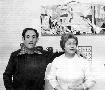 Fernando y Juana en Madrid (enero de 1977). Foto de Gustavo Catalán Dioses