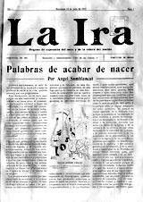 05-Portada del primer número de La Ira, con viñeta de Acín, 1913