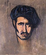 08-Autorretrato con boina. Acín, 1920-25