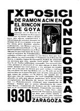 20-Díptico para la exposición en el Rincón de Goya, 1930