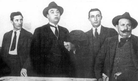 Pestaña y Seguí, los dos primeros empezando por la izq