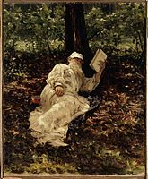 leon-tolstoi-descansando-en-el-bosque-1891-i-repin