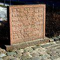 Piedra conmemorativa en Oranienburg
