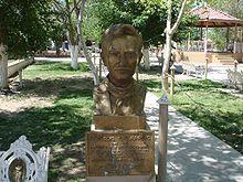 Busto en recucerdo de José Práxedis Gilberto Guerrero Hurtado en la municipio que lleva su nombre