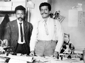 """Librado Rivera y Enrique Flores Magon, publicado en """"Regeneracion anarchist"""" periódico.editado en Los Angeles, California"""
