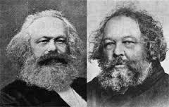 Marx y Bakunin.