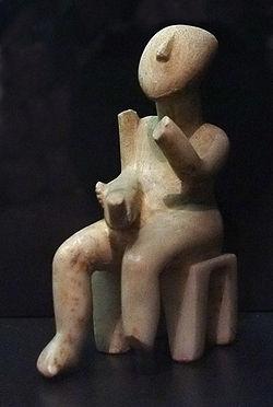 Escultura cicládica griega