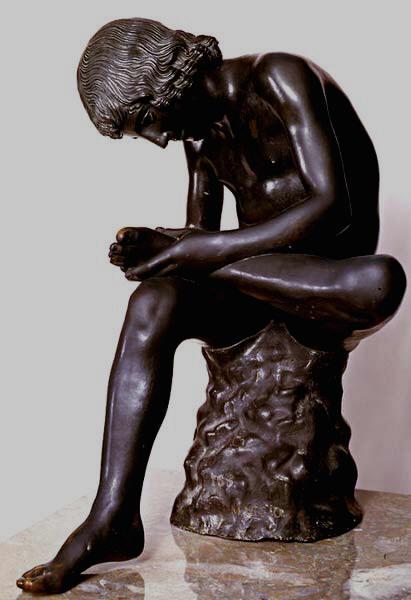 """""""Espinario"""" de época helanística (Copia anónima del siglo XVII conservada en el Museo del Prado)"""