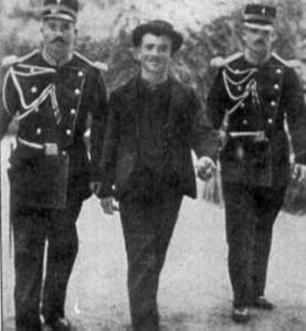Luigi Lucheni inmediatamente después de la detención