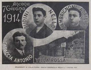 Imagen Recuerdo de las tres víctimas que murieron en Villa Rossa Antonio Casaccia, Buldini Nello y Giambrignoni Attilio.