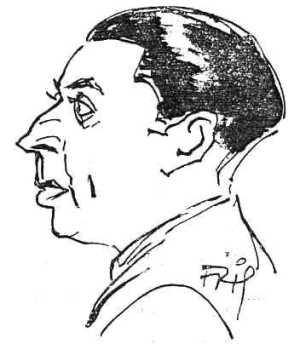 Adrien Perrissaguet en un dibujo de 1937