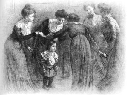 « La Capucine », tableau de François Henri Morisset en 1901 (1843-1918).