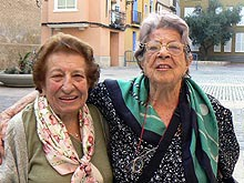 De izquierda a derecha, Antonia Fontanillas y Concha Liaño