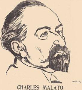 Caricatura de Malato por Delannoy (1909).