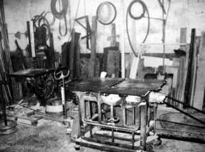 Carpinteria de Manuel Buenacasa donde trabajó hasta el día de su muerte