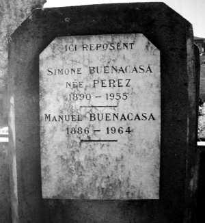 Tumba de Manuel Buenacasa y Simona en el cementerio de Borg-les-Valence
