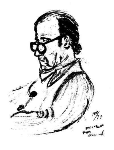 Félix Álvarez dibujado por su hijo pequeño Germinal (1973)