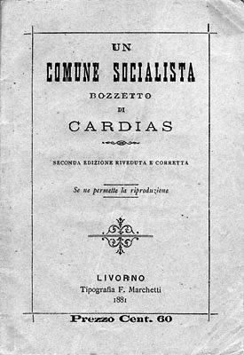Portada de la segunda edición deUn comune socialista(1881)