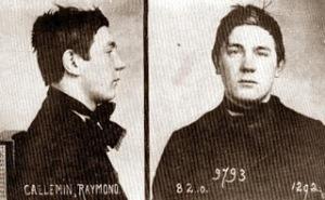 Raymond Callemin, fotografía de la ficha policial.
