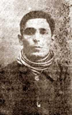 Manuel González Marín en una fotografía policial (1923)