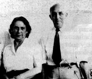 Áurea Cuadrado con Paulino Díez en el exilio mexicano