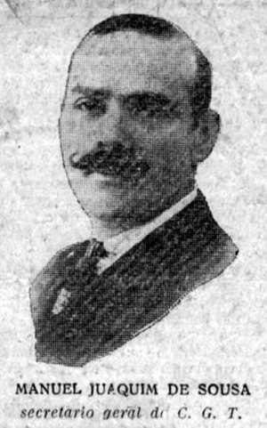 Manuel Joaquim de Sousa, secretario general de la CGT