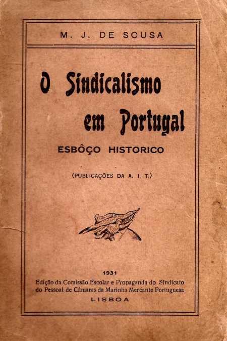 Portada del libro de Manuel Joaquim de SousaO sindicalismo me Portugal(1931)