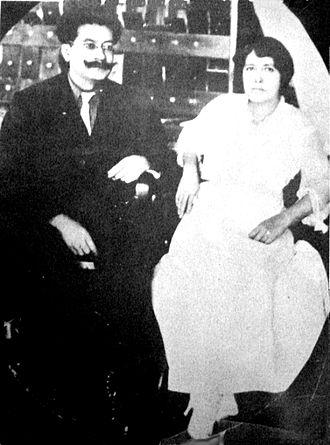Ricardo Flores Magon y María Talavera Broussé.