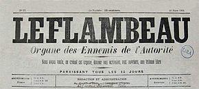 "The Flambeau, ""Organ of Enemies of the Authority"", No. 13 de 16 de marzo de 1902 (último número)."