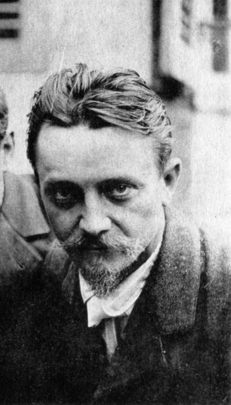 Félix Vallotton en un detalle de la anterior fotografía