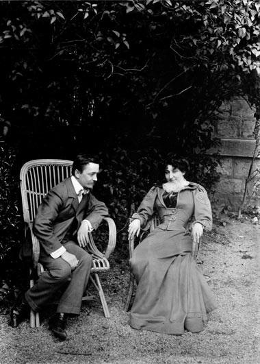 Gabrielle Vallotton en una foto del propio Félix Vallotton (Lausana, mayo de 1899)