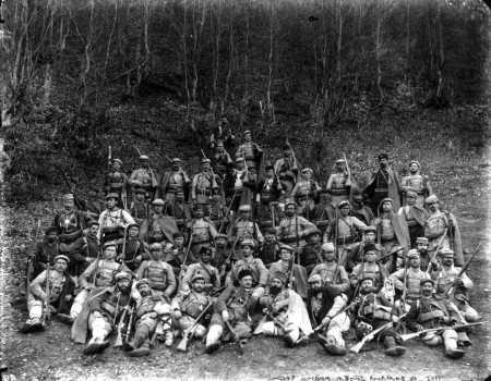 Revolucionarios en el Congreso de Plovdiv (abril de 1902). Nunkov es uno de ellos