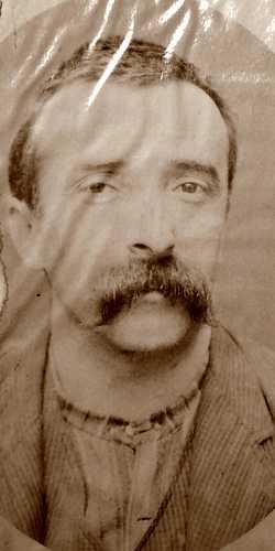 Foto policial de Cesare Agostinelli (ca. 1894)