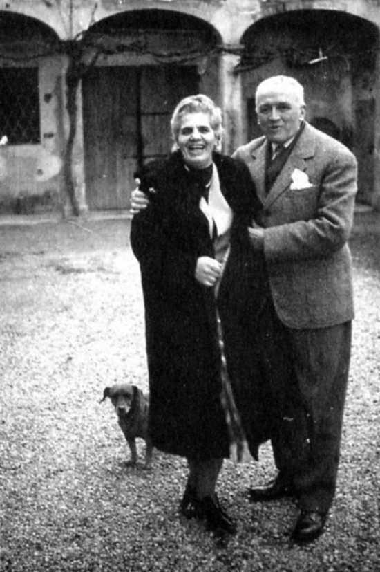 Emma Neri, Nello Garavini y el ca Kim (Castel Bolognese, 1961)