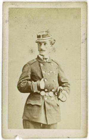 Jules Louis Montels oficial durante la guerra de 1870